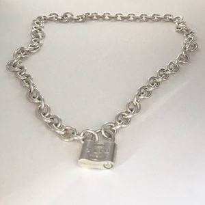 "18"" Long 1837 Padlock Necklace Bold and Stunning!"
